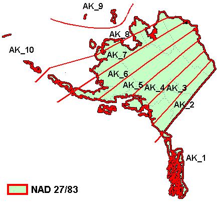 State Plane Coordinate System XMS Wiki - Alaska state map