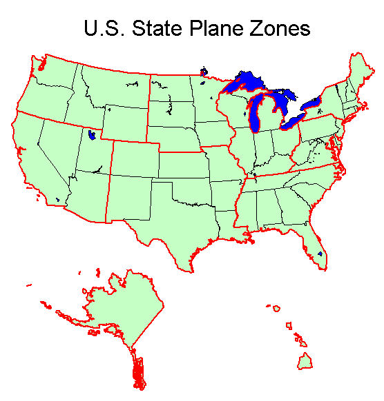 State Plane Coordinate System XMS Wiki - Us coordinate map